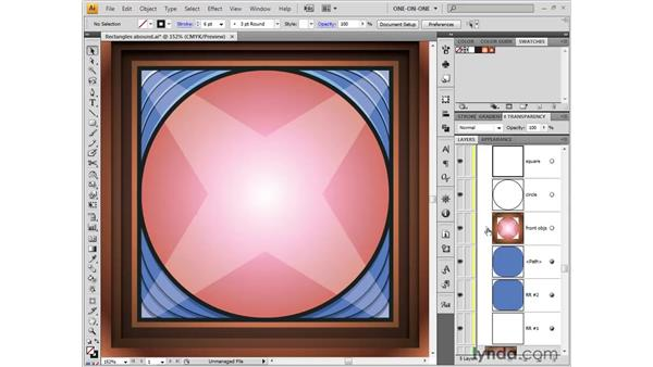 Merging strokes with a compound path: Illustrator CS4 One-on-One: Fundamentals
