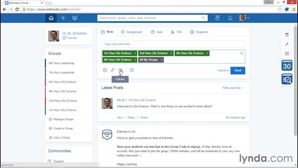 Creating groups: Up and Running with Edmodo