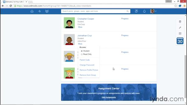 Managing group members: Up and Running with Edmodo