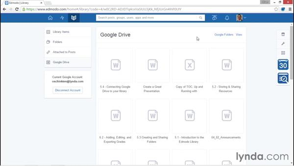 Connecting your Google Drive account: Up and Running with Edmodo