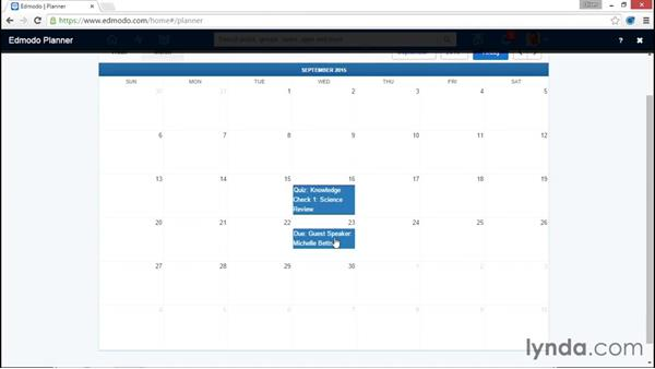 Using your calendar: Up and Running with Edmodo