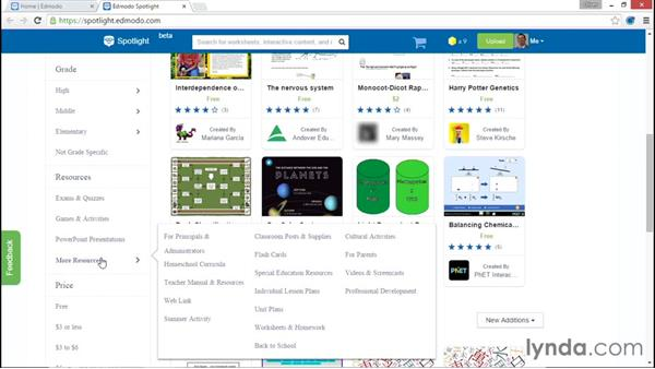 Using Spotlight to access resources: Up and Running with Edmodo