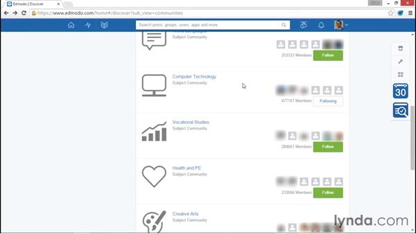 Connecting with educators and joining communities: Up and Running with Edmodo