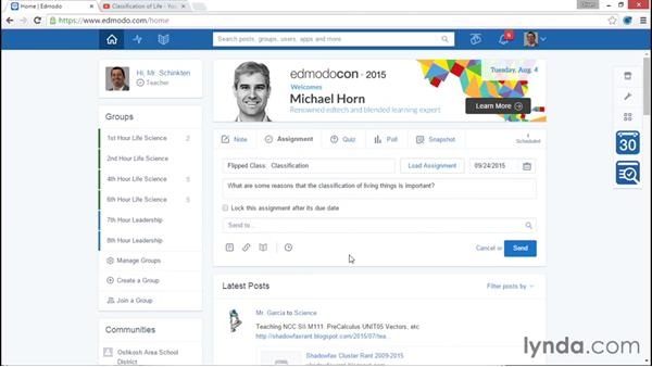 Flipped classes: Up and Running with Edmodo