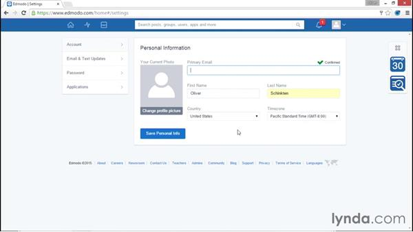 Creating a student account: Up and Running with Edmodo