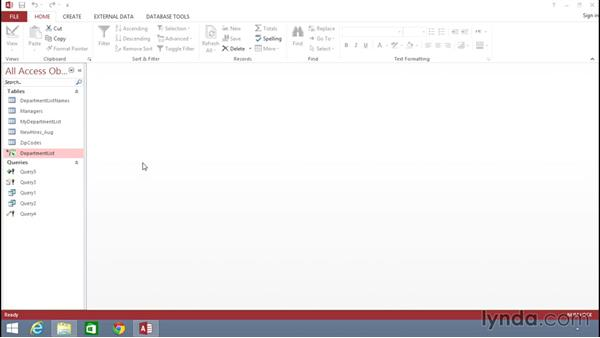 Using the exercise files: Building Solutions Using Excel 2013 and Access 2013 Together