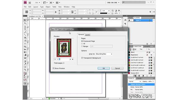 Placing multiple artboards into InDesign: Illustrator CS4 One-on-One: Fundamentals