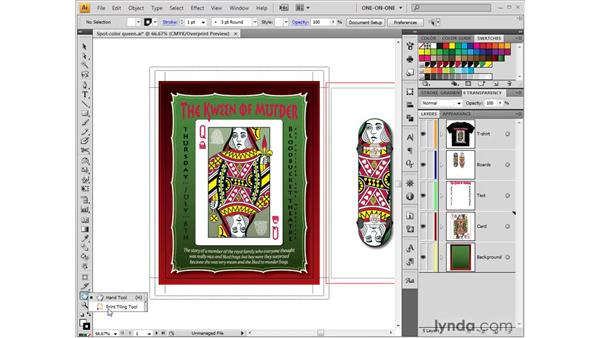 Working with the Print Tiling tool: Illustrator CS4 One-on-One: Fundamentals