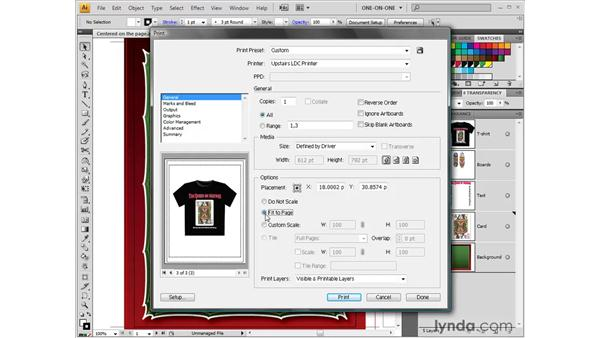 Setting the General Print options: Illustrator CS4 One-on-One: Fundamentals