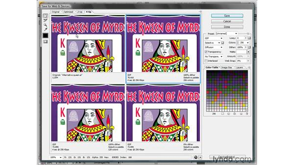 Saving an illustration for the web: Illustrator CS4 One-on-One: Fundamentals