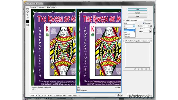 Saving a continuous-tone JPEG image: Illustrator CS4 One-on-One: Fundamentals