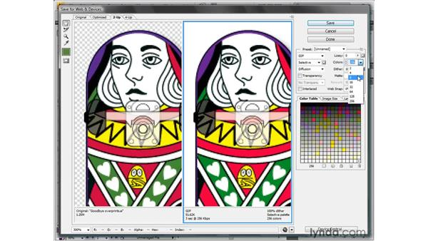 Saving a high-contrast GIF graphic: Illustrator CS4 One-on-One: Fundamentals