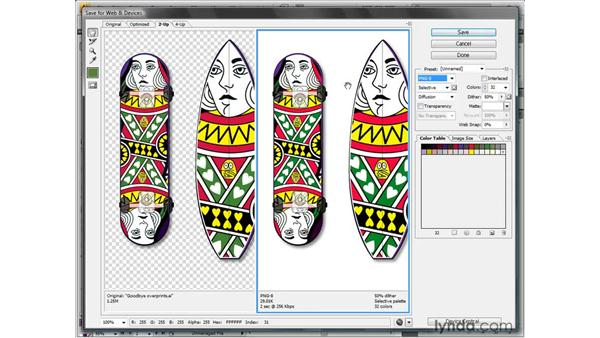 The versatile PNG format: Illustrator CS4 One-on-One: Fundamentals