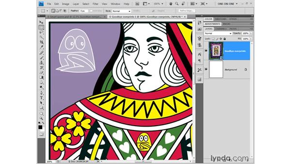 Opening and placing an Illustrator file in Photoshop: Illustrator CS4 One-on-One: Fundamentals