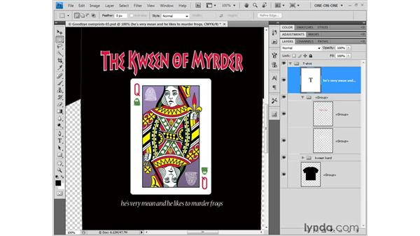 Exporting a layered PSD from Illustrator: Illustrator CS4 One-on-One: Fundamentals