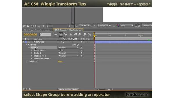 Wiggle Transform: After Effects CS4: Wiggle Transform Tips