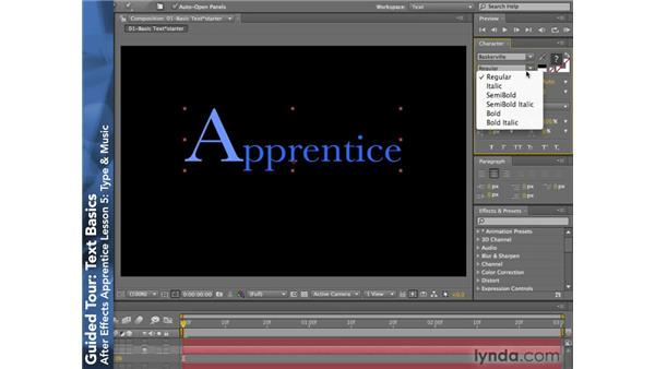 Text Essentials: After Effects CS4: Apprentice's Guide to Key Features