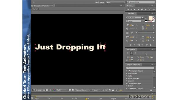 Text Animators: After Effects CS4: Apprentice's Guide to Key Features