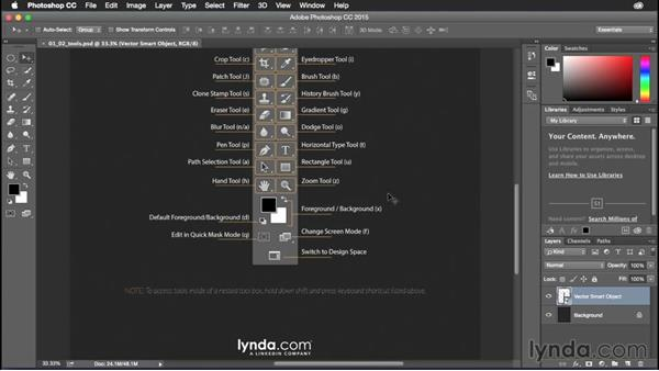Using Photoshop tool shortcuts: Photoshop CC Power Shortcuts