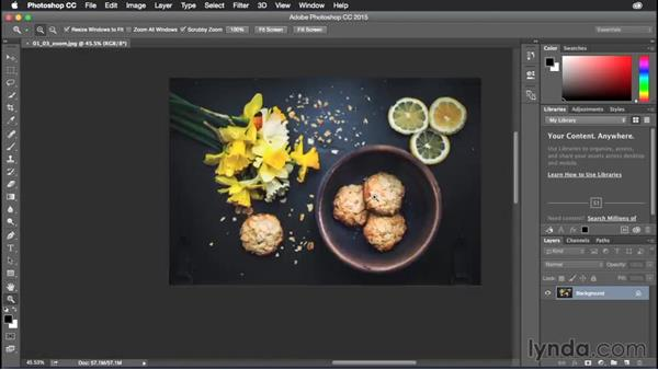 Dragging and zooming on documents: Photoshop CC Power Shortcuts