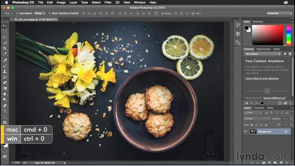 Switching zoom levels quickly: Photoshop CC Power Shortcuts
