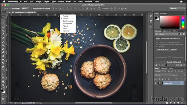 Changing ruler units with one click: Photoshop CC Power Shortcuts