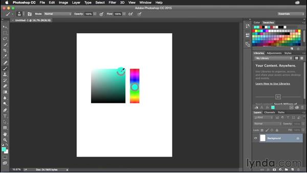 Using the HUD color picker: Photoshop CC Power Shortcuts