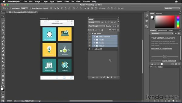 Selecting and moving layers: Photoshop CC Power Shortcuts