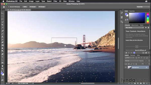 Working with bird's eye view: Photoshop CC Power Shortcuts