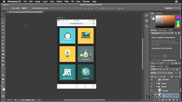 Selecting layers easily: Photoshop CC Power Shortcuts