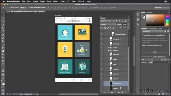 Copying, creating, and merging layers: Photoshop CC Power Shortcuts