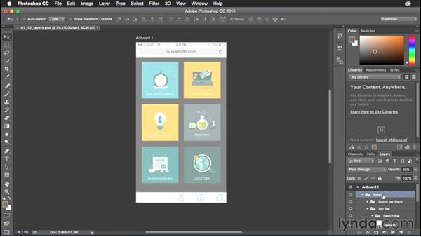 Changing layer opacity: Photoshop CC Power Shortcuts