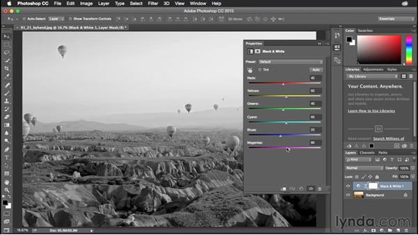 Modifying adjustment layers by hand: Photoshop CC Power Shortcuts