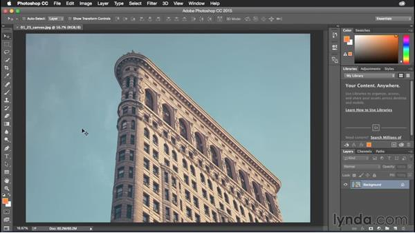 Adjusting image and canvas size: Photoshop CC Power Shortcuts