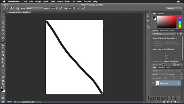 Drawing straight lines: Photoshop CC Power Shortcuts