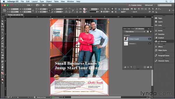 Sharing artwork with CC Libraries: InDesign Insider Training: Working with Photoshop and Illustrator
