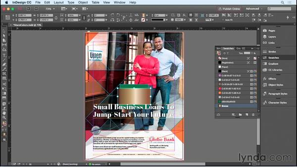 Sharing color swatches: InDesign Insider Training: Working with Photoshop and Illustrator
