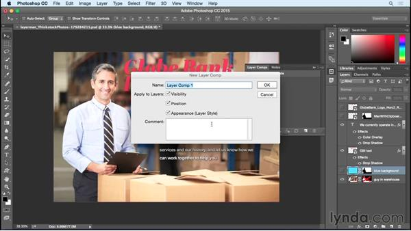 Managing layer comps: InDesign Insider Training: Working with Photoshop and Illustrator