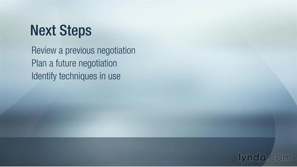 Next steps: Strategic Negotiation