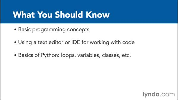 What you should know before watching this course: Up and Running with Python and Django