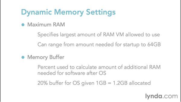 Allocating memory and Dynamic Memory: Configuring Windows Server 2012 R2 Hyper-V
