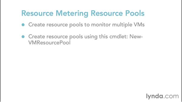 Configuring Resource Metering: Configuring Windows Server 2012 R2 Hyper-V