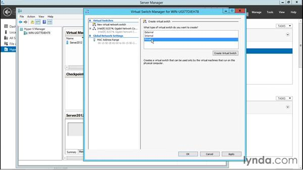Creating new virtual switches: Configuring Windows Server 2012 R2 Hyper-V