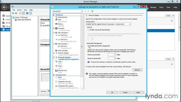 Creating virtual network adapters: Configuring Windows Server 2012 R2 Hyper-V