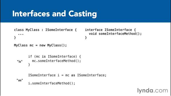 Using interfaces and casting: C# Interfaces and Generics