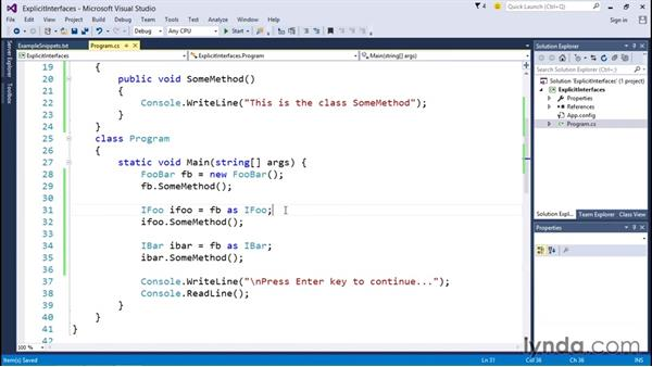 Using explicit interface implementation: C# Interfaces and Generics