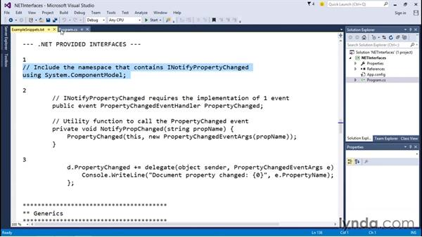 Using .NET-defined interfaces: C# Interfaces and Generics