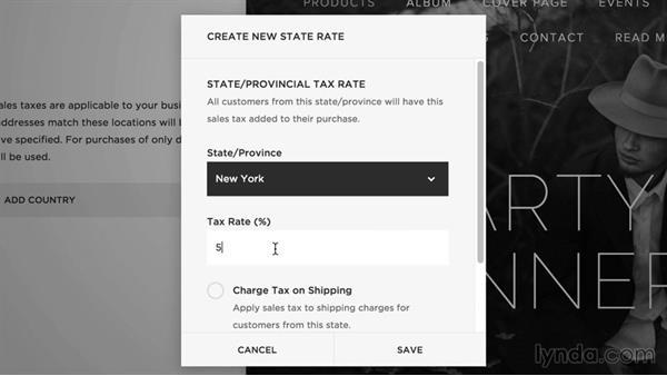 Set up taxes: Squarespace 7 Intermediate Techniques