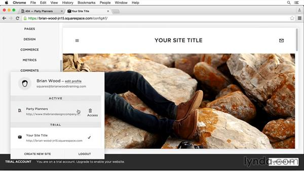 Work with multiple sites: Squarespace 7 Intermediate Techniques
