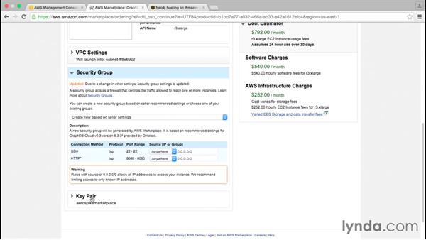 Using AWS EC2 AMI Marketplace for graph databases: Amazon Web Services Data Services